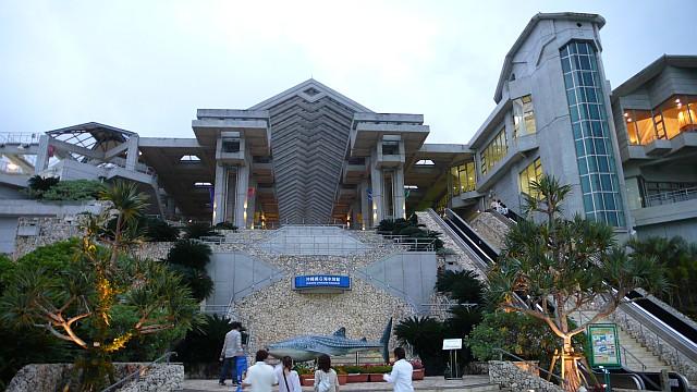 美ら海水族館後景